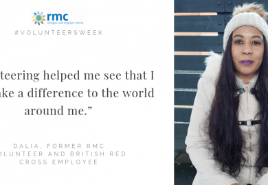 "Volunteers Week: ""Volunteering at RMC helped me to be part of a community and make new friends."""