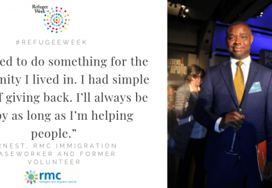 "Refugee Week – ""I wanted to do something for the community I lived in. I had simple goals of giving back. I'll always be happy as long as I'm helping people."""