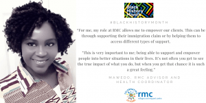 "Black History Month – ""My role at RMC allows me to be the voice that our clients may not have"""