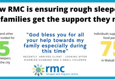 How RMC is ensuring rough sleepers and families get the support they need